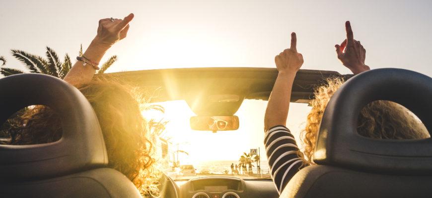 Women Driving New Car